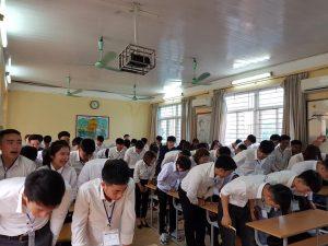Học viên phỏng vấn trường Incheon tại văn phòng Hà Nội