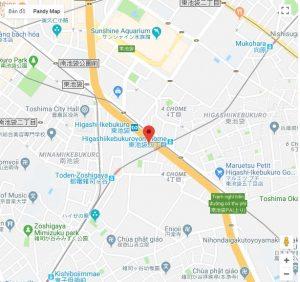 Bản đồ khu vực xung quanh trường